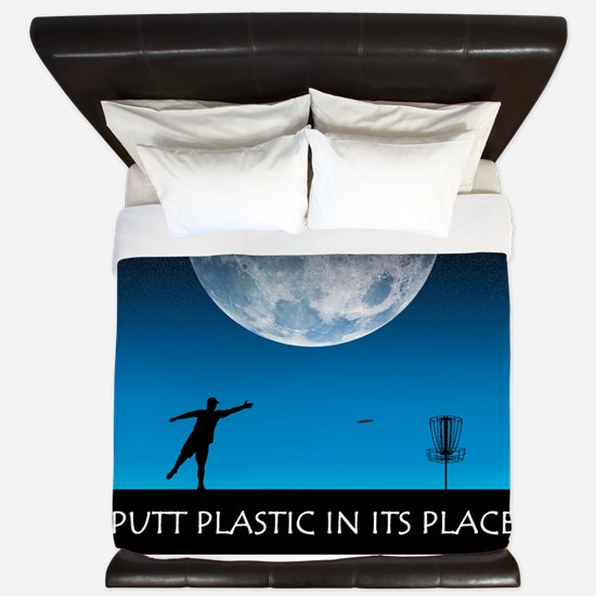 Putt Plastic In Its Place #6 King Duvet