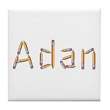 Adan Pencils Tile Coaster