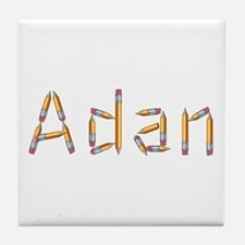 Adan Pencils Tile Coaster