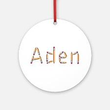 Aden Pencils Round Ornament