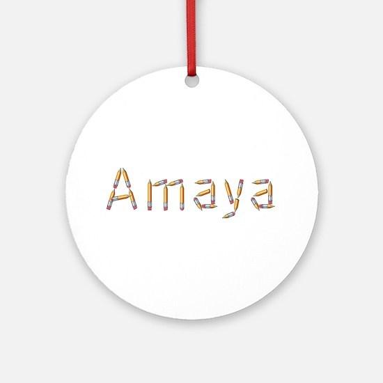 Amaya Pencils Round Ornament