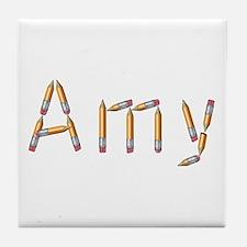 Amy Pencils Tile Coaster
