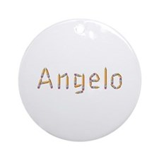 Angelo Pencils Round Ornament