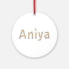 Aniya Pencils Round Ornament