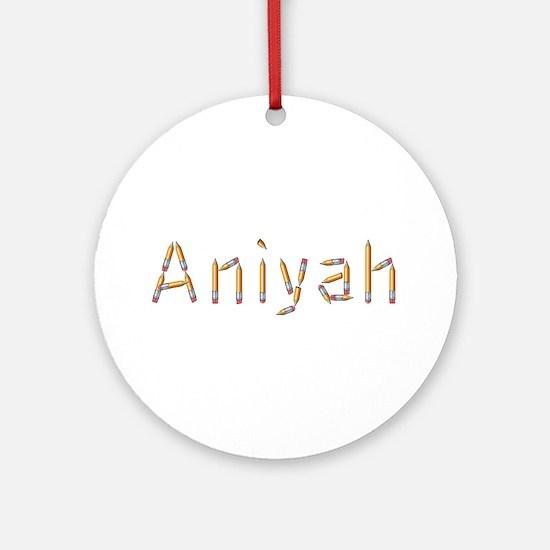 Aniyah Pencils Round Ornament