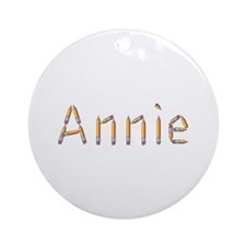 Annie Pencils Round Ornament