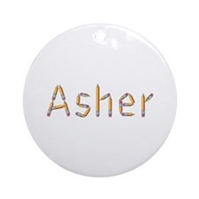 Asher Pencils Round Ornament