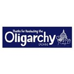 Reelecting the Oligarchy Sticker (Bumper)