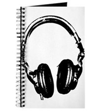 Dj Headphones Stencil Style T Shirt Journal