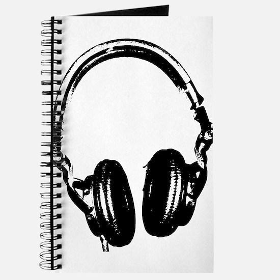 Dj Headphones Stencil Style T Shirt Journal