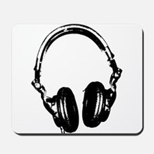 Dj Headphones Stencil Style T Shirt Mousepad