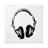Dj headphones Queen Duvet Covers