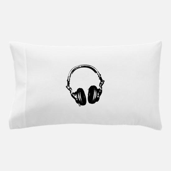 Dj Headphones Stencil Style T Shirt Pillow Case