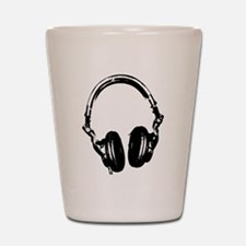Dj Headphones Stencil Style T Shirt Shot Glass