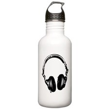 Dj Headphones Stencil Style T Shirt Sports Water Bottle
