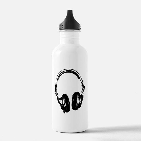 Dj Headphones Stencil Style T Shirt Water Bottle