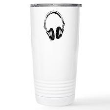 Dj Headphones Stencil Style T Shirt Travel Mug