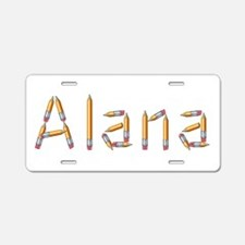 Alana Pencils Aluminum License Plate
