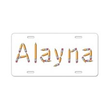 Alayna Pencils Aluminum License Plate