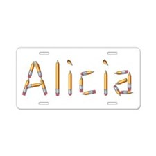 Alicia Pencils Aluminum License Plate