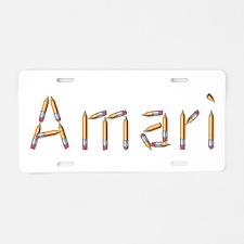 Amari Pencils Aluminum License Plate