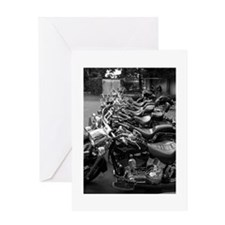 New Harleys in a Row Greeting Card