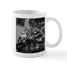 New Harleys in a Row Small Mug