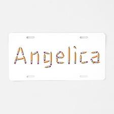 Angelica Pencils Aluminum License Plate