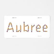 Aubree Pencils Aluminum License Plate