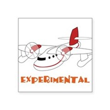 "Experimental Square Sticker 3"" x 3"""