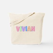 Vivian Rainbow Pastel Tote Bag