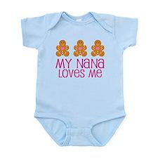Nana Loves Me Gingerbread Infant Bodysuit