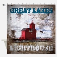 Great Lakes Lighthouse Shower Curtain