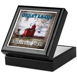 Michigan lighthouse Keepsake Boxes