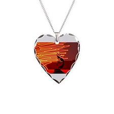 Kokopelli Creates Fire Energy Necklace Heart Charm