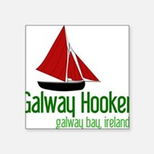 """Galway Hooker Square Sticker 3"""" x 3"""""""