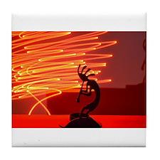 Kokopelli Creates Fire Energy Tile Coaster
