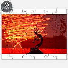 Kokopelli Creates Fire Energy Puzzle