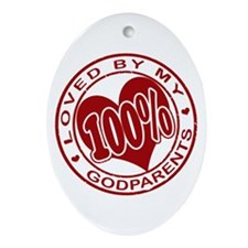 Cute Godparents Ornament (Oval)
