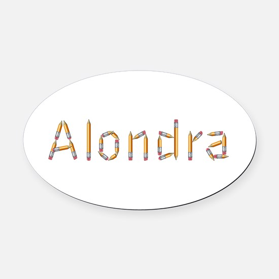 Alondra Pencils Oval Car Magnet
