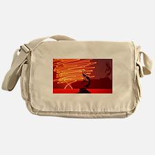 Kokopelli Creates Fire Energy Messenger Bag