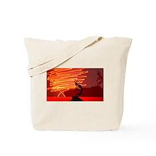 Kokopelli Creates Fire Energy Tote Bag