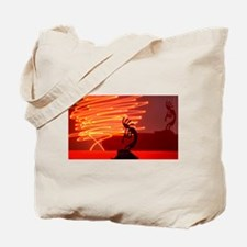 Kokopelli Creates Fire Energy Tote Bag