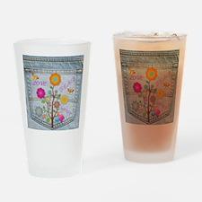 Denim Pocket Peace Love Hope Drinking Glass