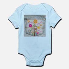 Denim Pocket Peace Love Hope Infant Bodysuit