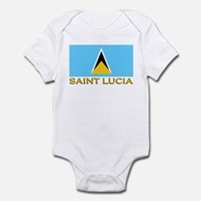 Saint Lucia Flag Stuff Infant Bodysuit