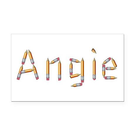 Angie Pencils Retangular Car Magnet