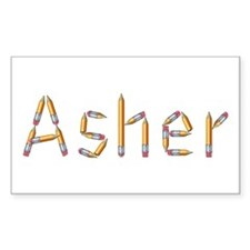 Asher Pencils Rectangle Decal