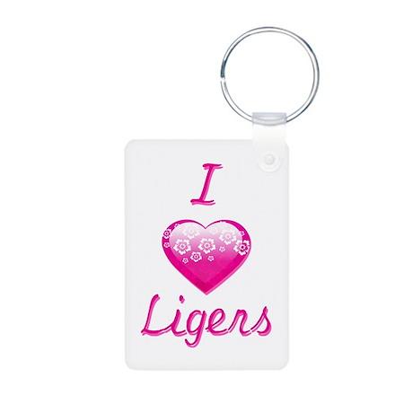 I Love/Heart Ligers Aluminum Photo Keychain
