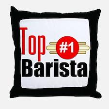 Top Barista Throw Pillow